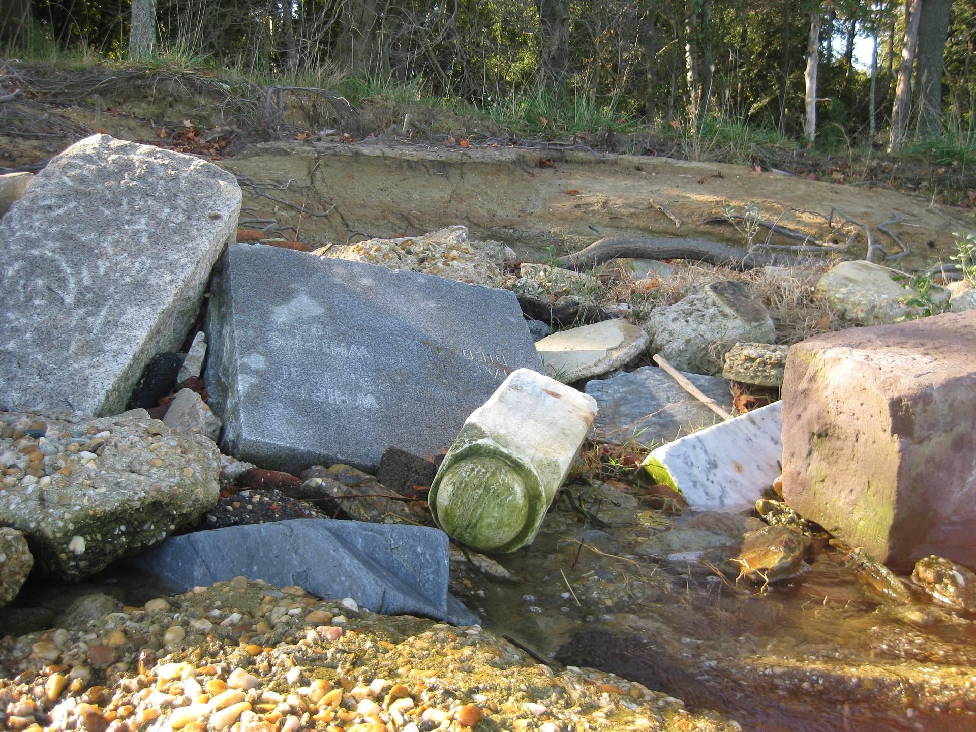 Gravestone Riprap on Potomac