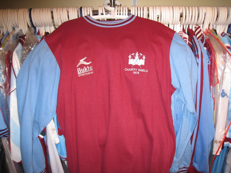 1975 Charity Shield Shirt, players issue, not worn