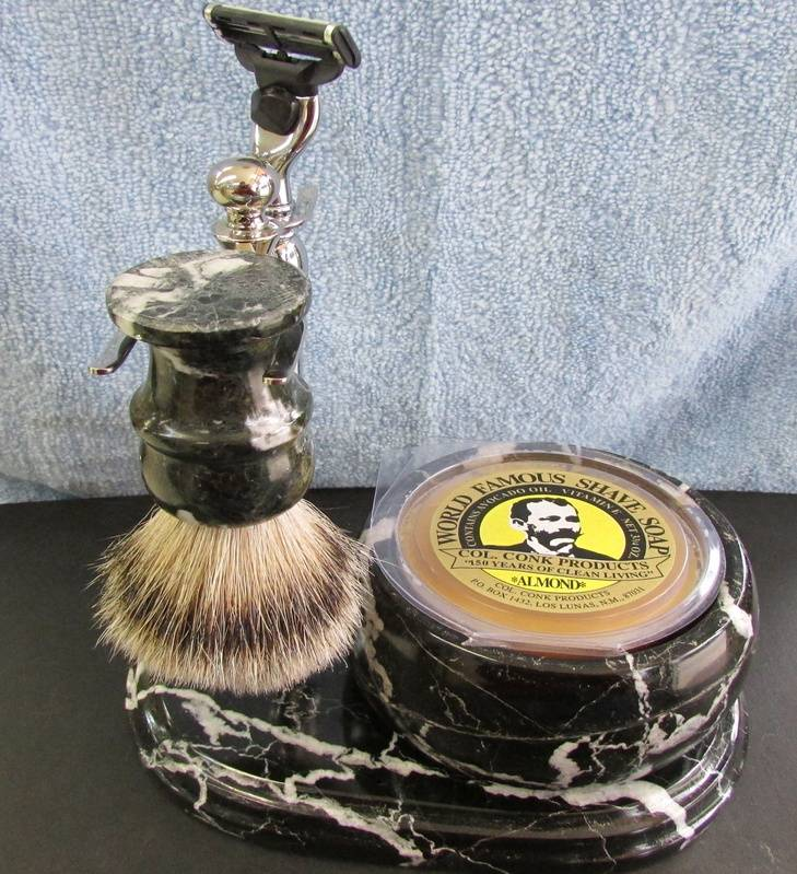 Marble Col. Ichabod Conk Shave Set