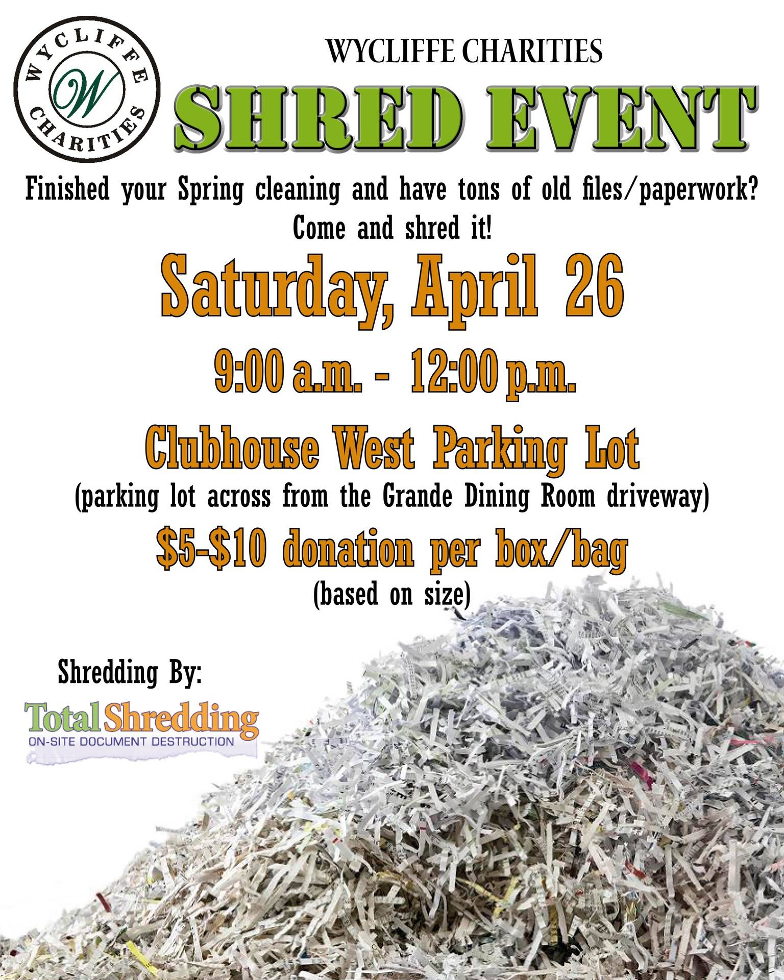 Our Shredding  Event
