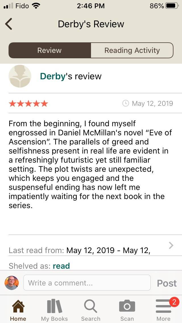Derby's Review of Eve of Ascension