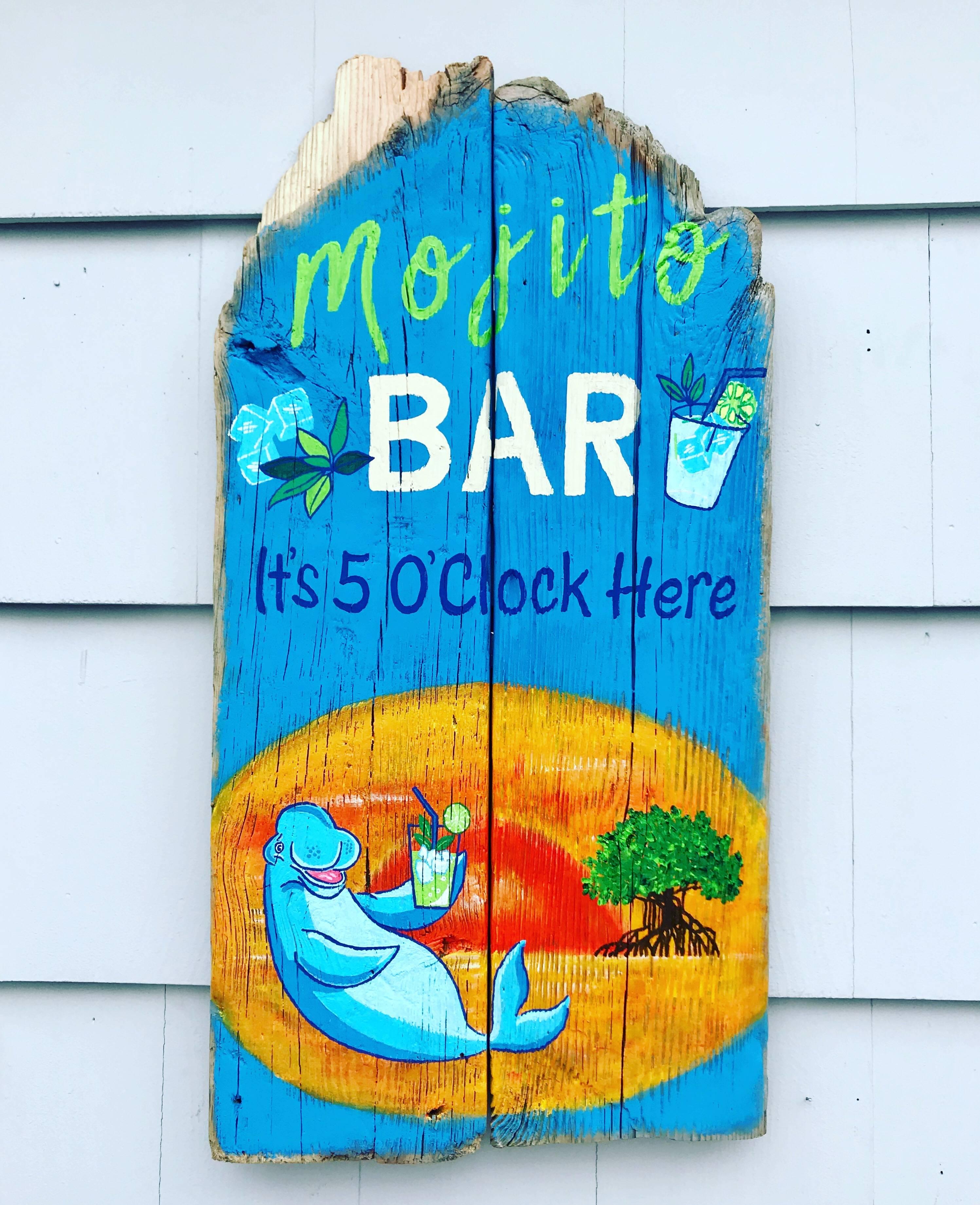 Outdoor Pool Bar Sign