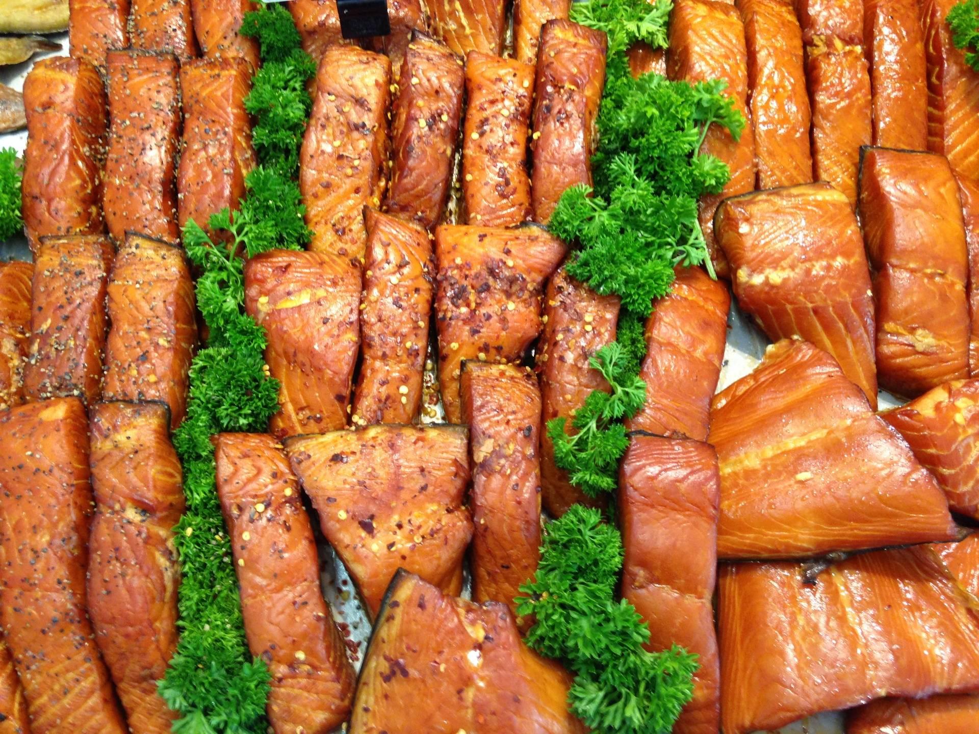 our own kiln roasted salmon