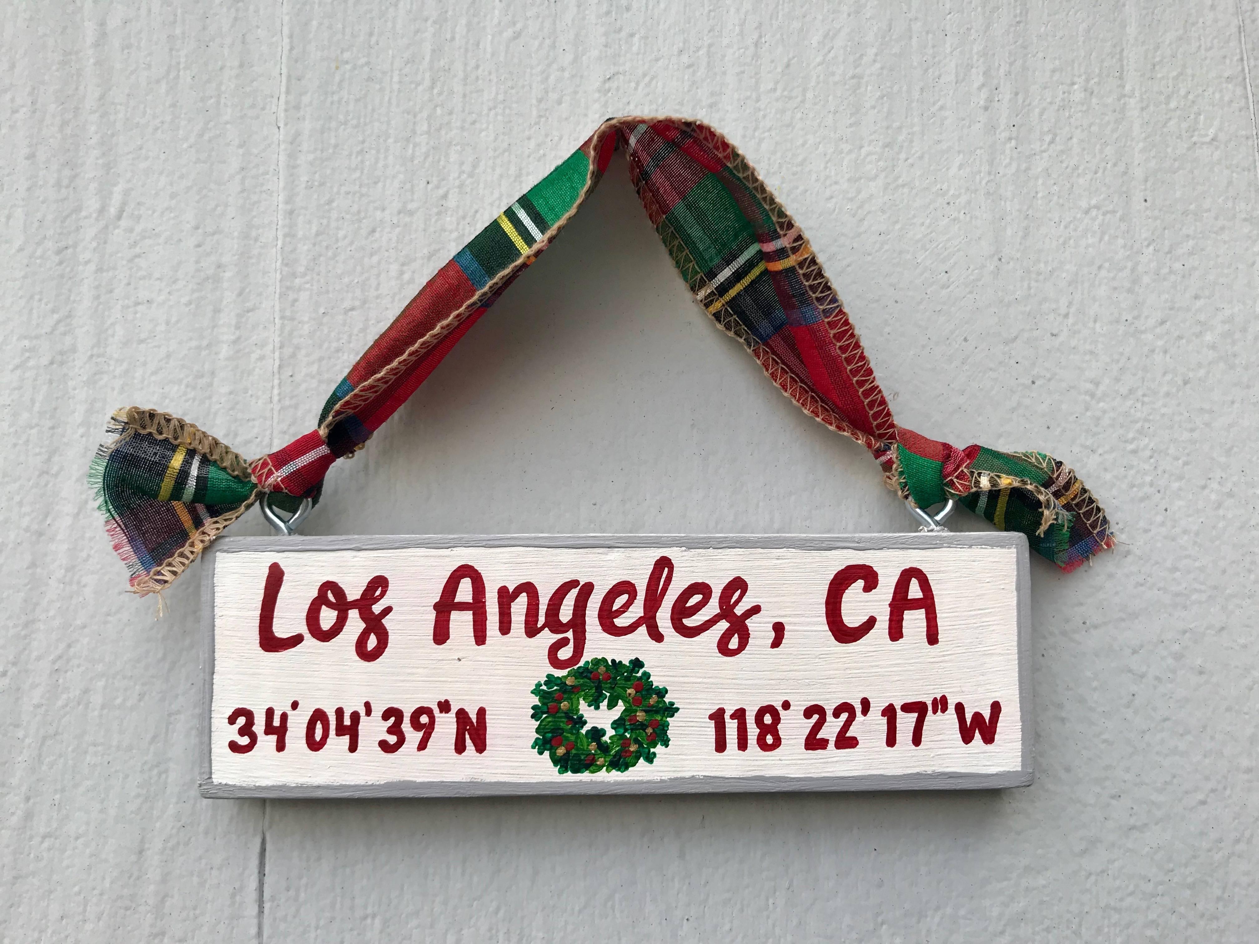 Hometown wooden ornament