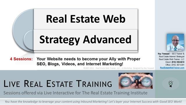 Real Estate Web Strategy Advanced - Fall 2012