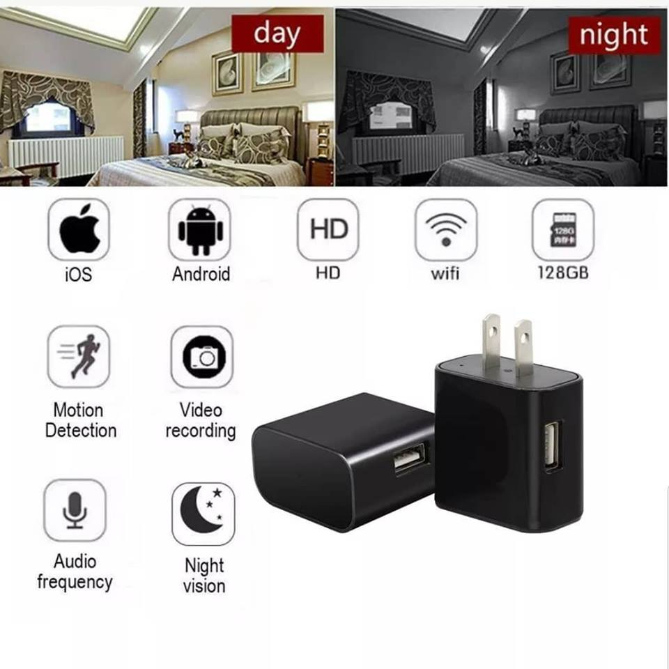 Wall Charger Spy Camera