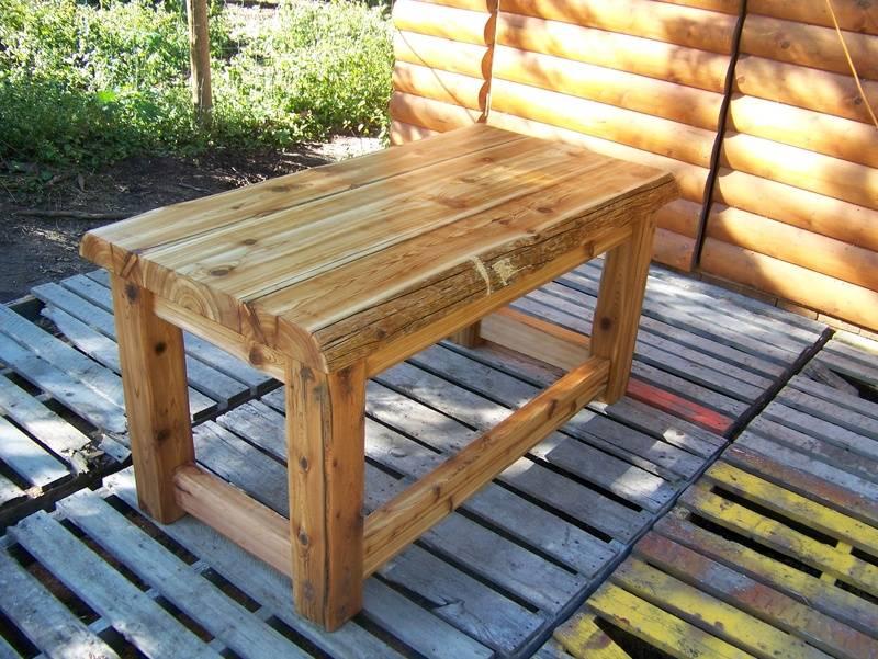 """""""fallen Cedar """" table"""