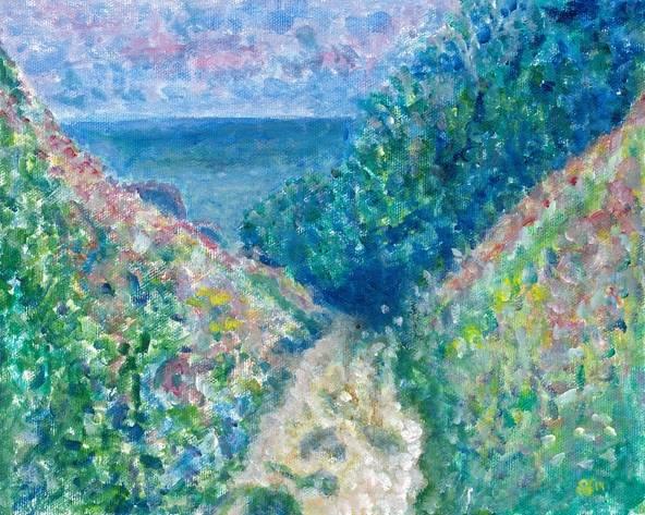 Interpretation of The Path at La Cavee Pourville