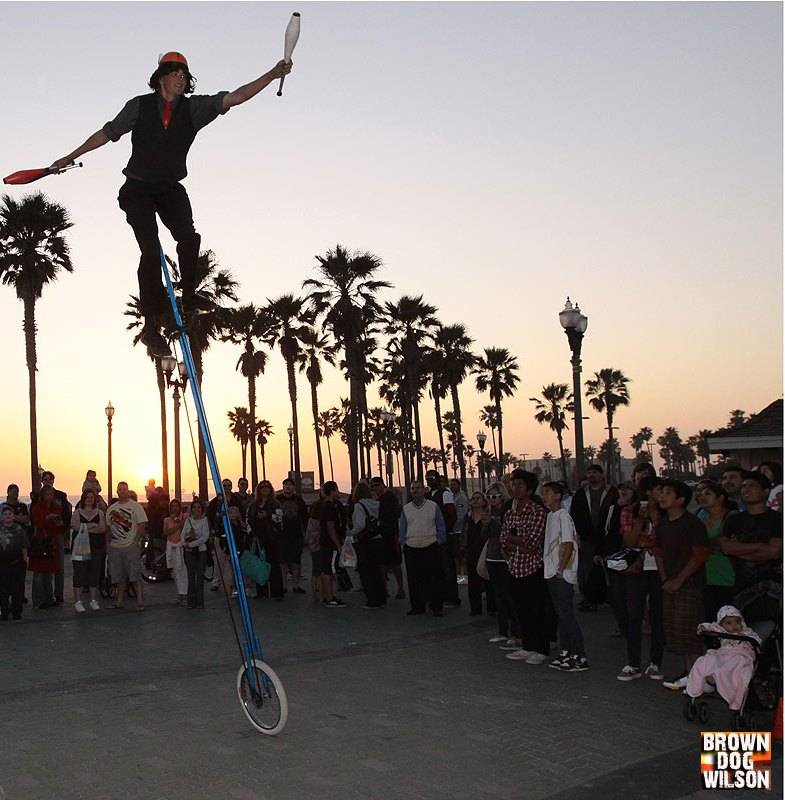 Performing in Huntington Beach