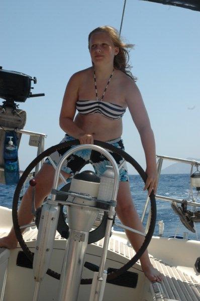 Pippa at the wheel, 2010
