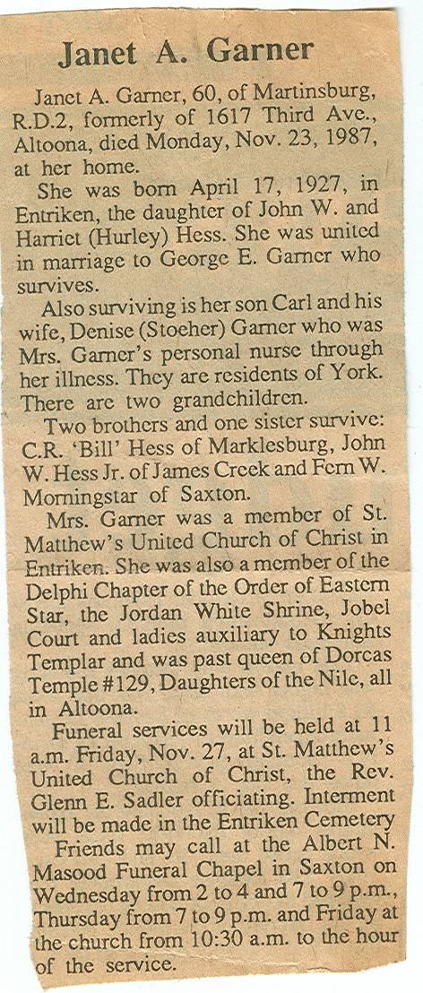 Garner, Janet A. Hess 1987