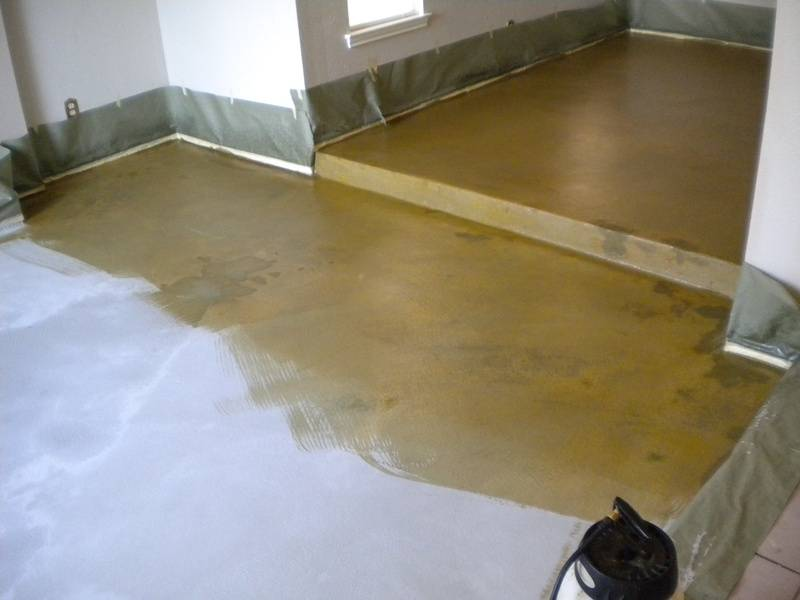 overlay and stain process