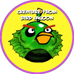 Angry Bird Monsters Creature From Bird Lagoon