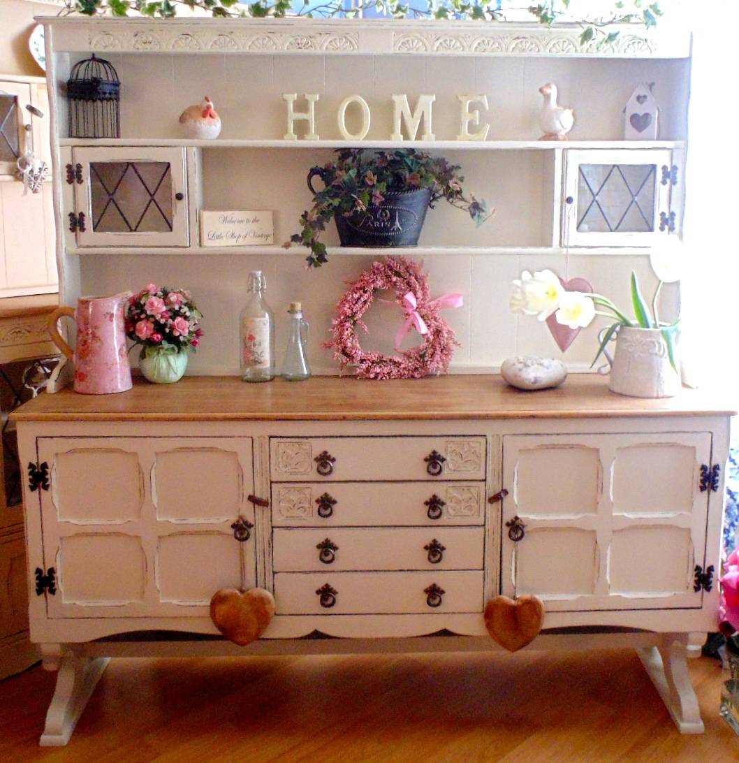 Large Old Charm Dresser in Farrow & Ball Clunch
