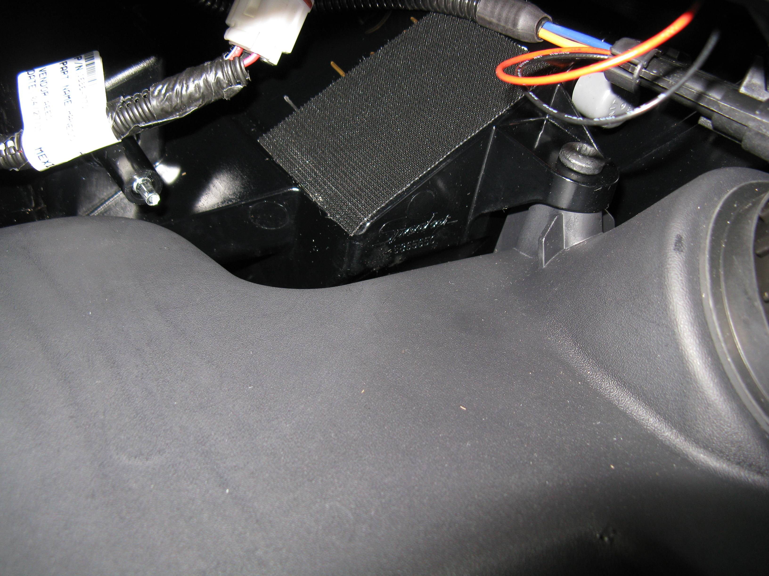 Applied Velcro pad