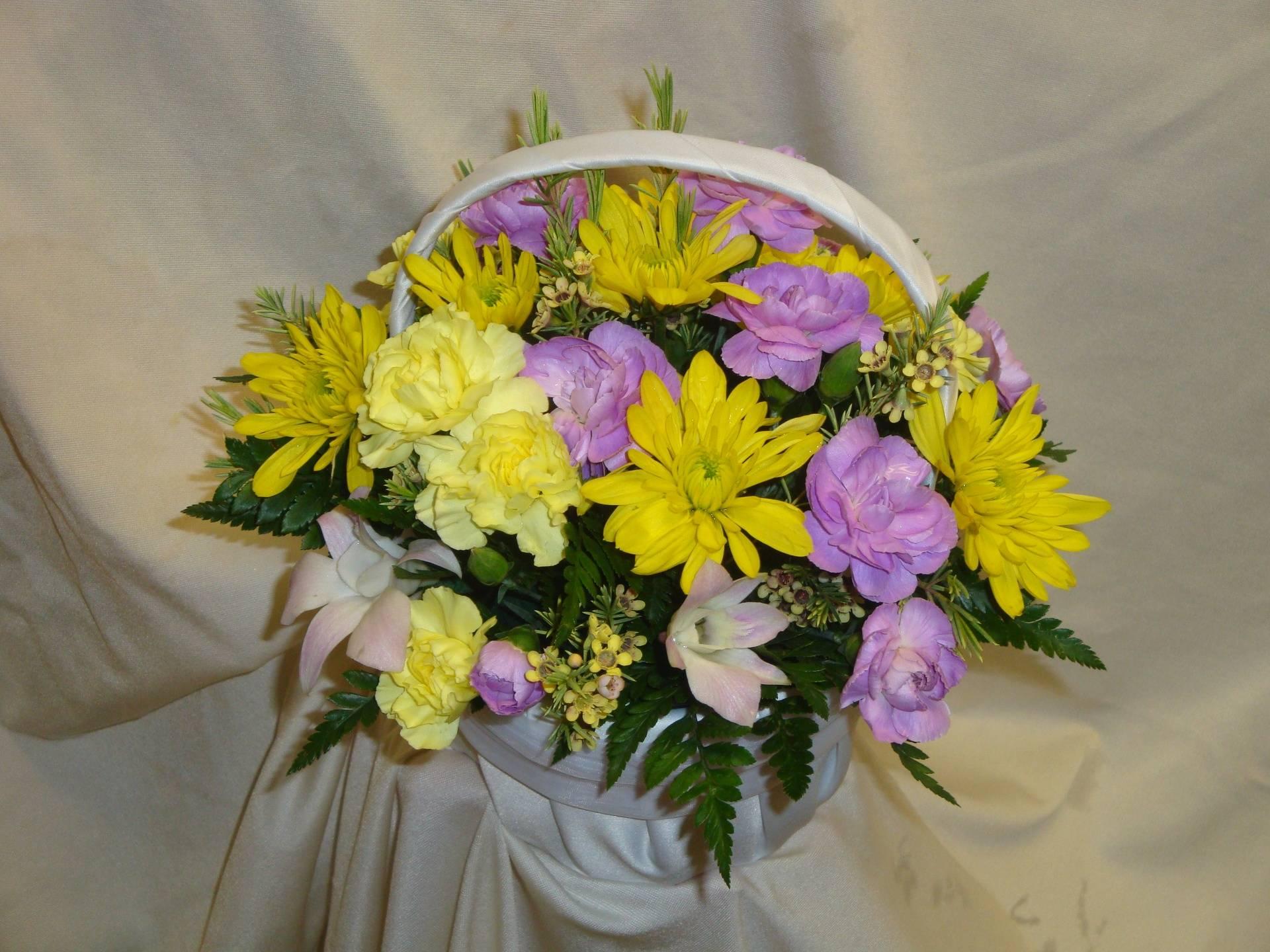 Flower girl basket arrangement
