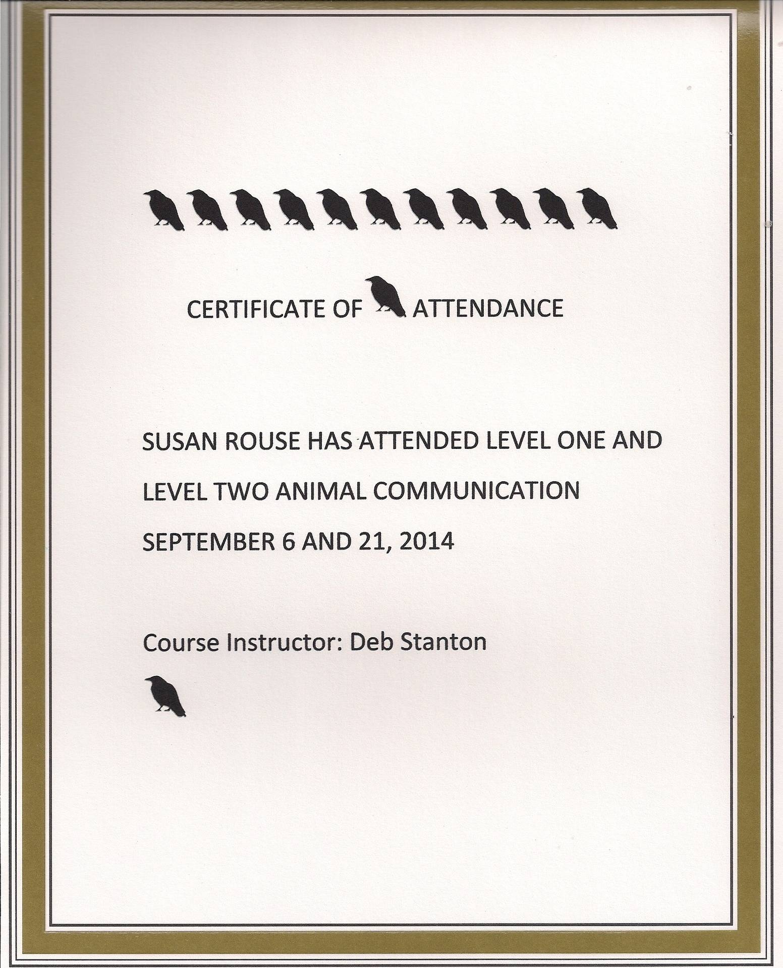 Animal Communication Level 1 and 2 Certificate