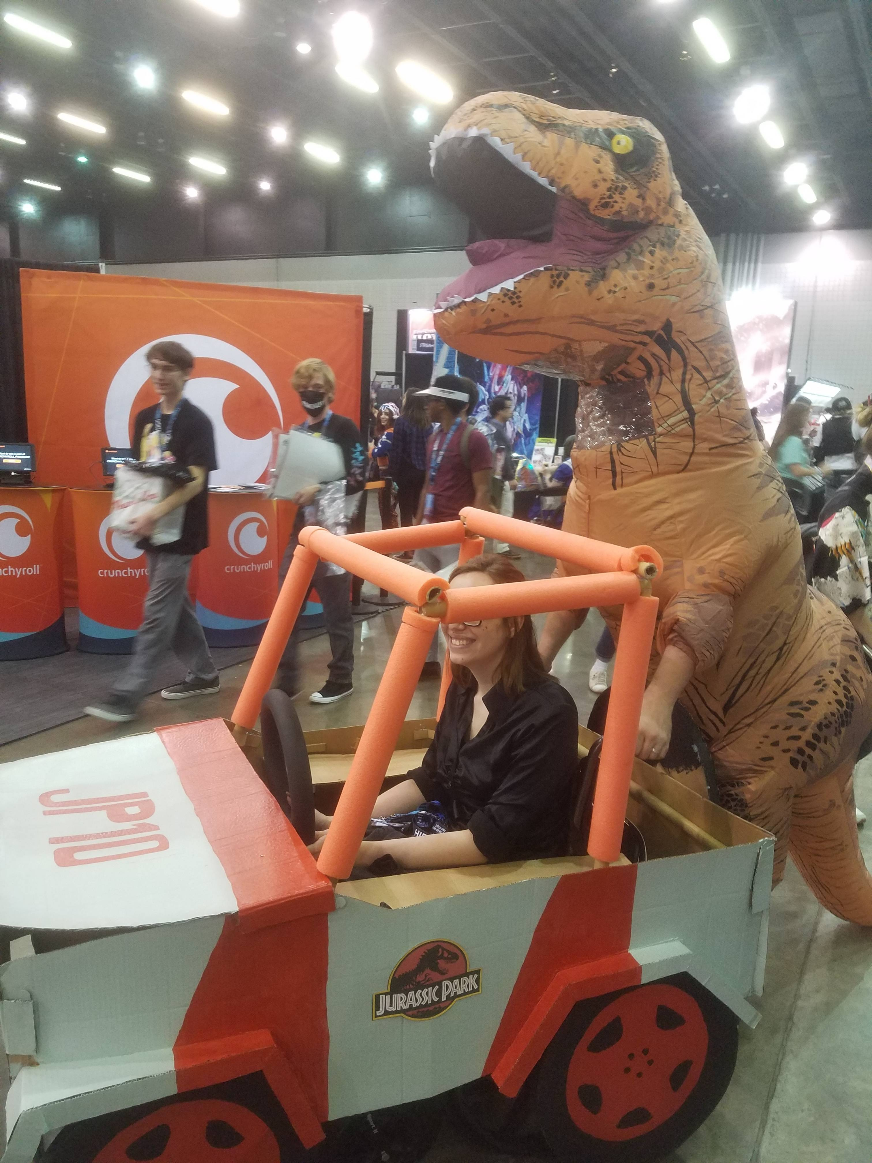 T-Rex and Jurassic Park Ranger
