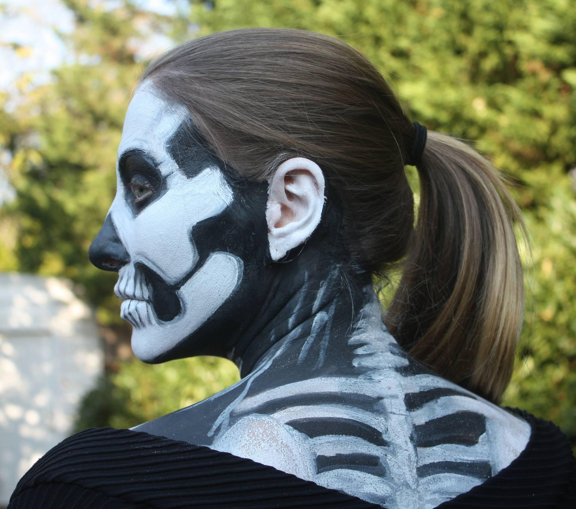 Skeleton Face and back