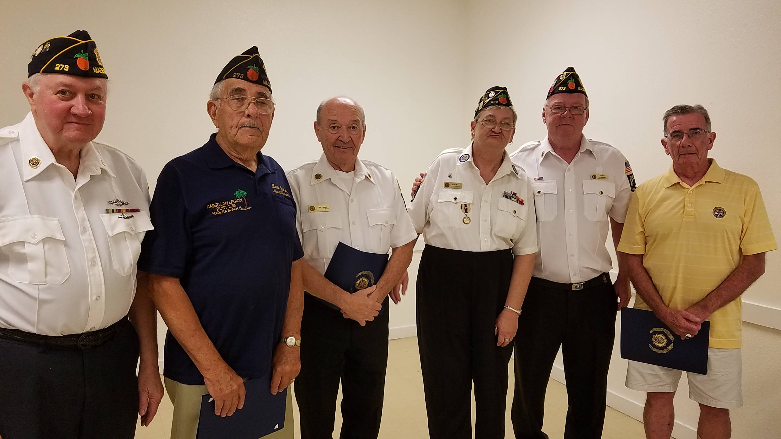 """April 5th: American Legion members named their """"Legionnaires Of The Year"""" for 2014/2015/2016. Congratulations to Executive Officers Jack McCarrie, Bill Eusepi and Monte Palmer!"""