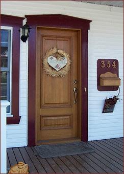 Porte extérieure en bois, chêne blanc