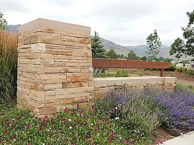 "The Granary Boulder Colorado 4"" Colorado Buff Strip Stone"