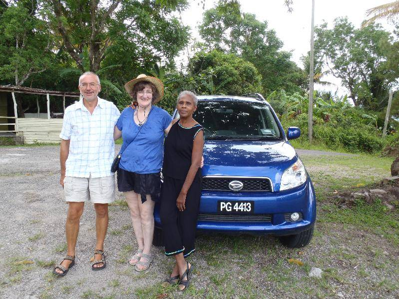 John, Jan and Annette with the hire car