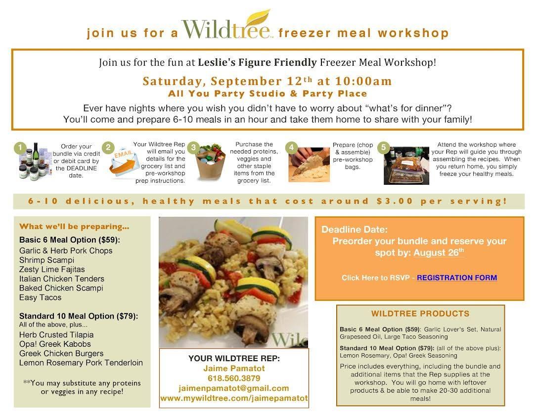 Wiltree Freezer Meal Workshop