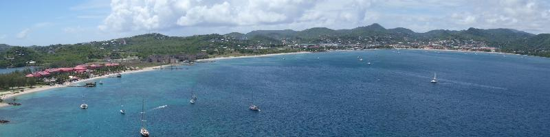 Rodney Bay from Pigeon Island