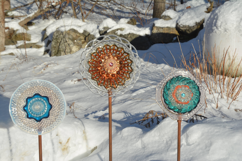 Horizontal Garden Jewel Flowers on Display