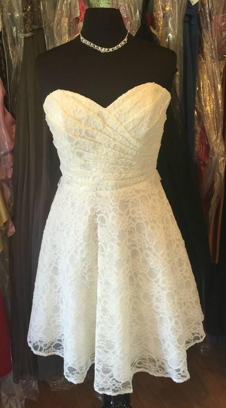 NWT MORI LEE SIZE 12 IVORY DRESS JUST $79.99