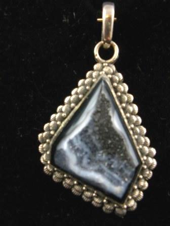 09-00100 Merlinite Sterling Silver Pendant