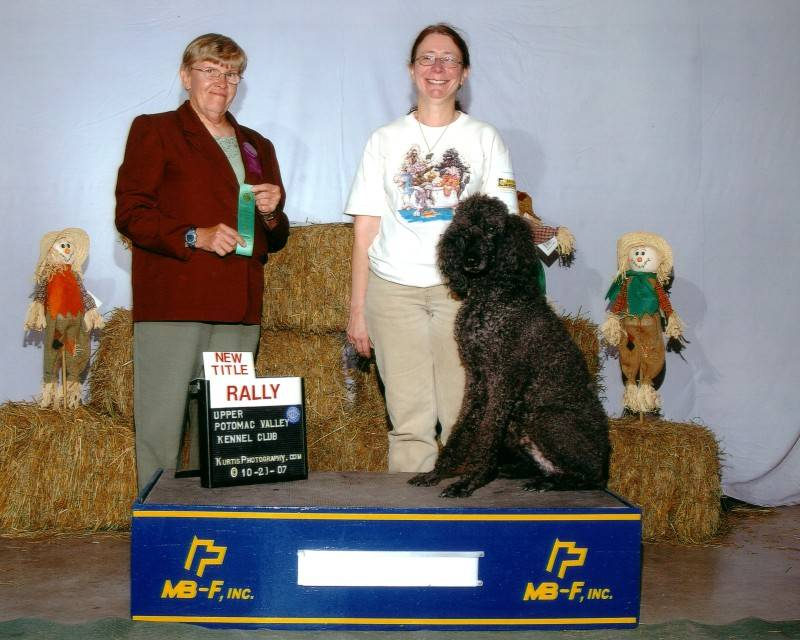 Flash with new Rally Novice title at age 15.  10/21/07.