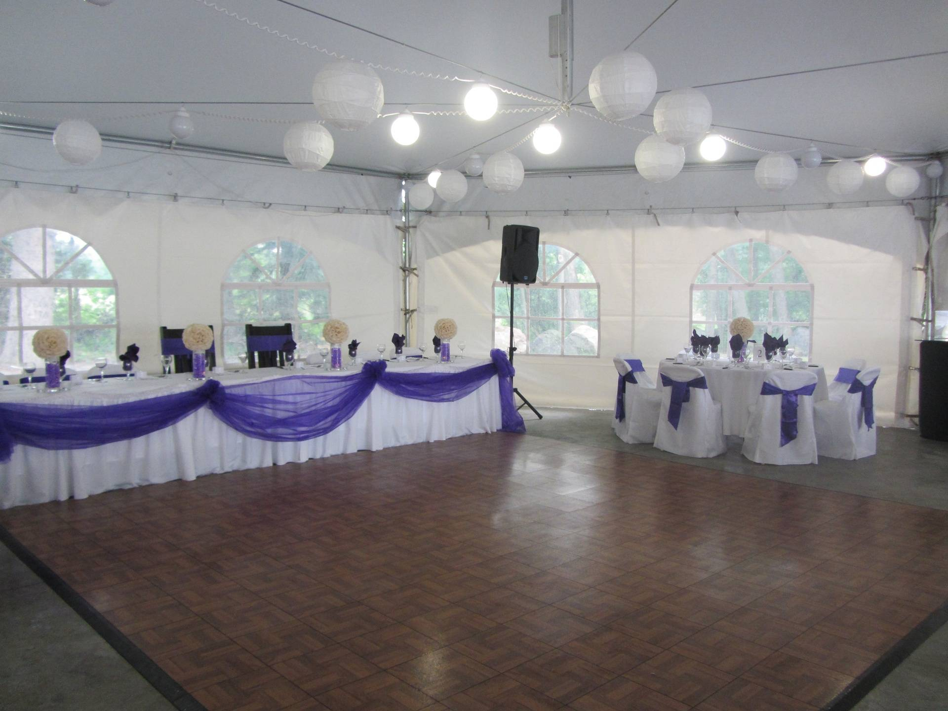 Inside Tent head Table