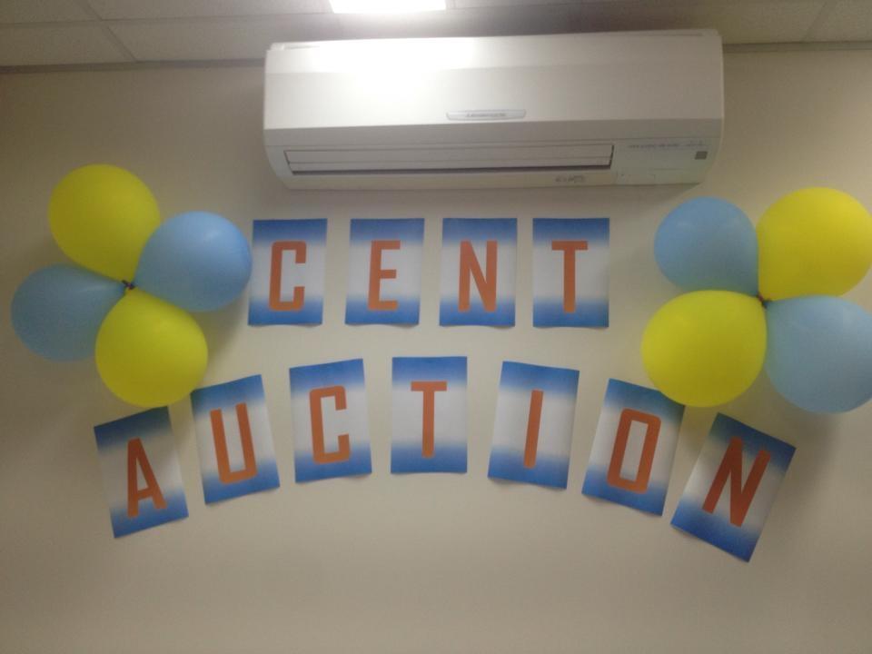Cent auction banner