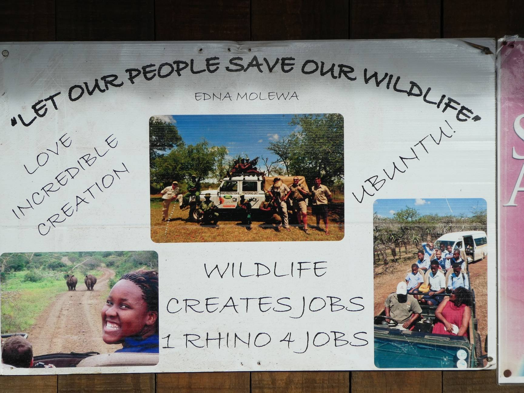 we learnt about their projects to teach the locals the importance of living with the wildlife
