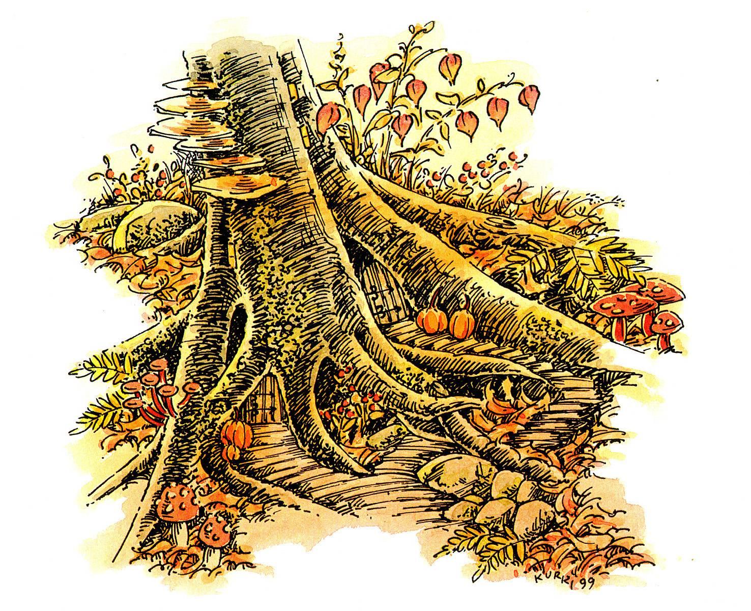 Halloween Tree Roots