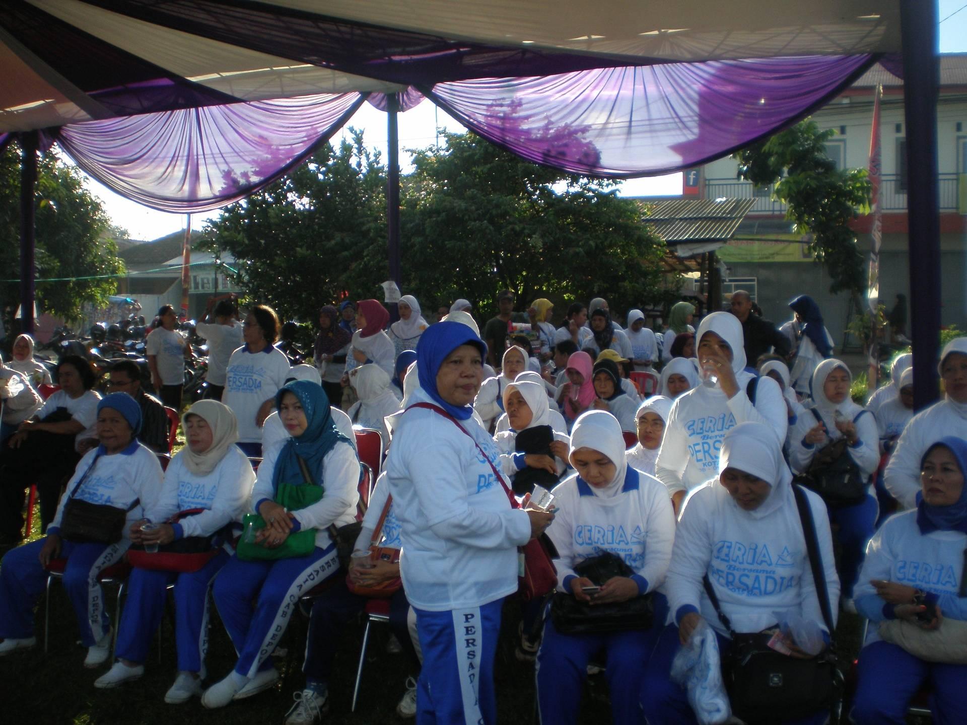 Mengikutsertakan Peserta Prolanis Klinik Qita di kegiatan Persadia Cabang Depok
