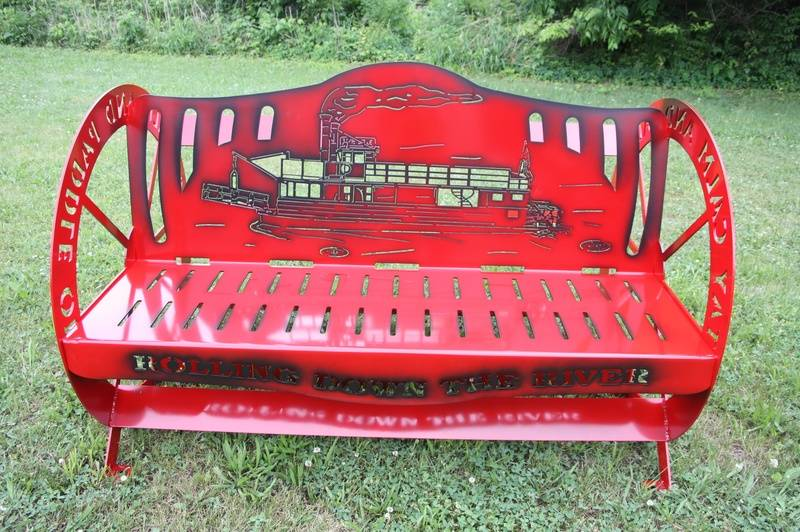 Paddle Wheel Steamboat Bench