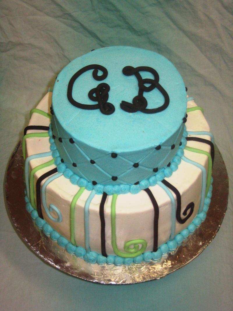 Monogram Baby Shower Cake