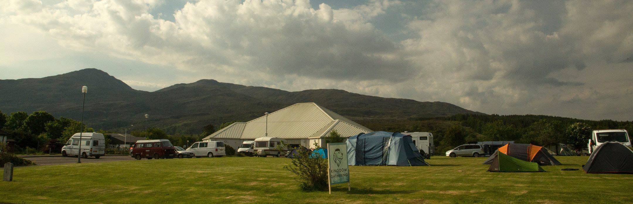 Camping, Caravans and lodgings if you can find one.
