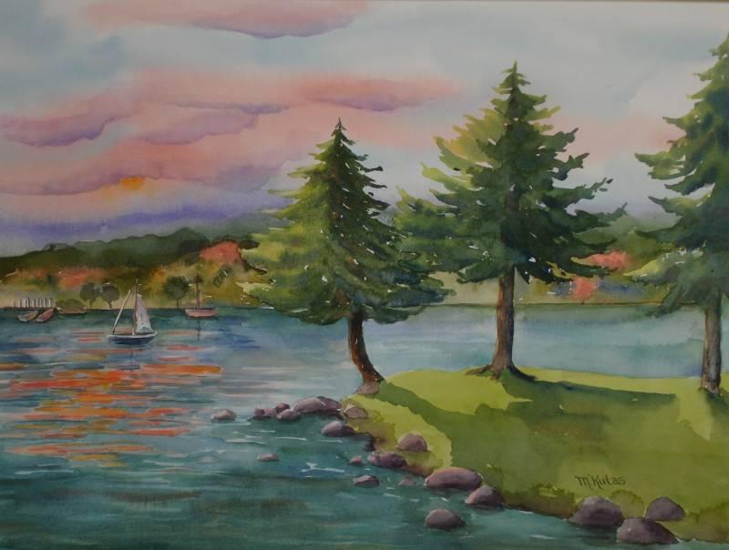 Sunset at Rainbow Lake