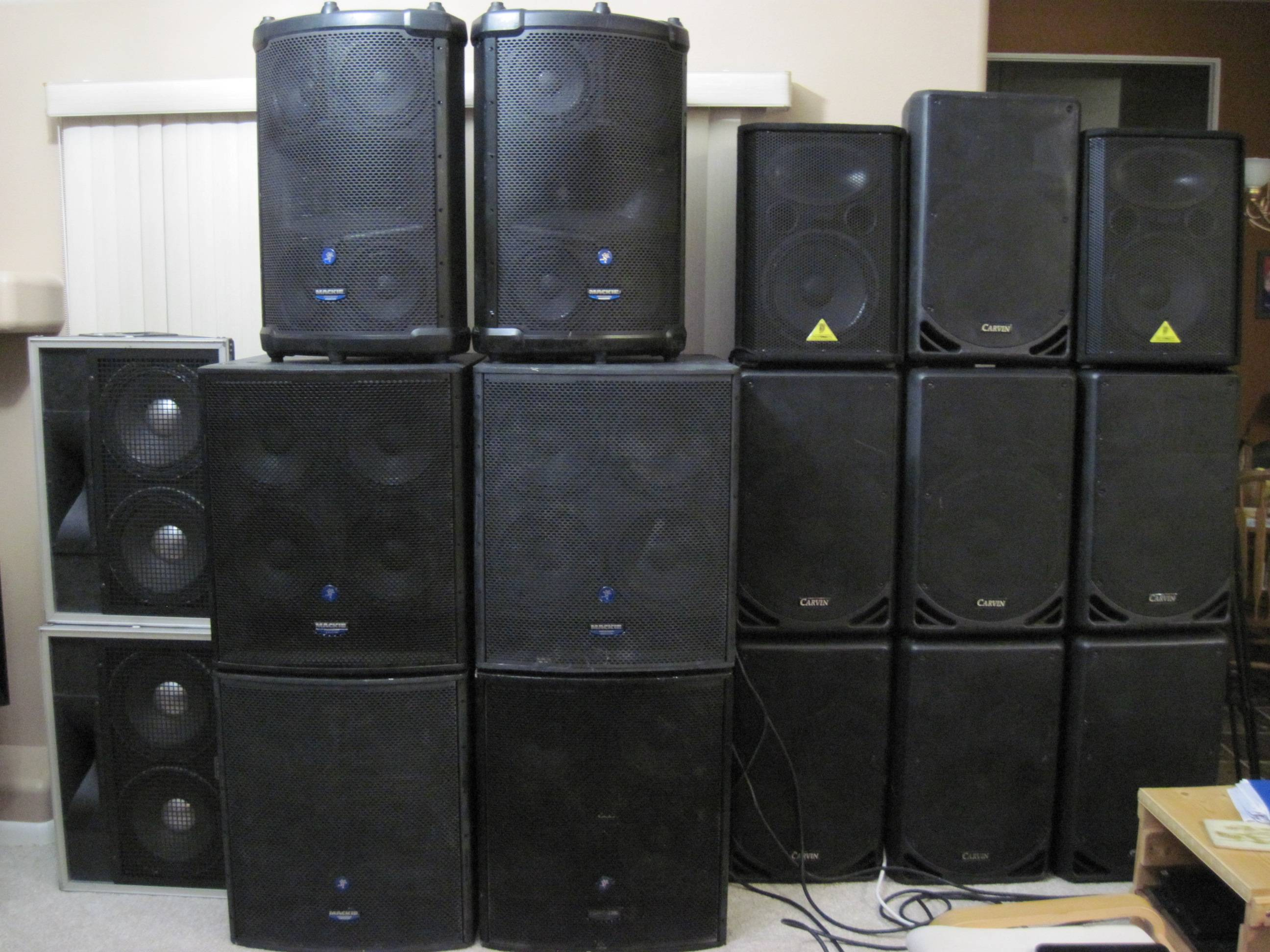 Some Of My Sound System Cabinets.