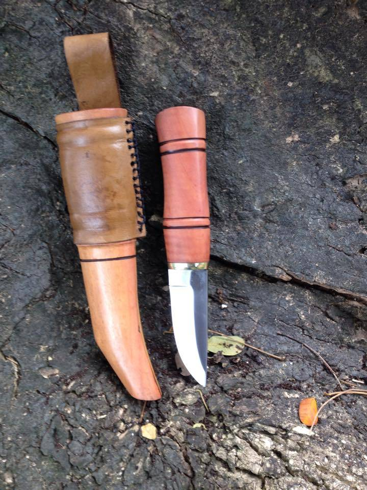 Scandinavian Puukko Knife and Mini Scandi Knife