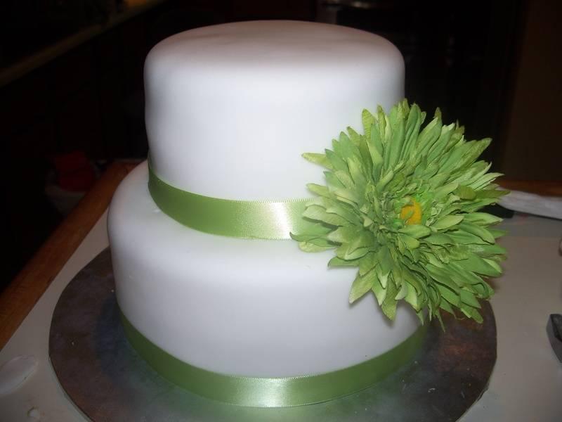 Wedding Cake With a splash of Flower