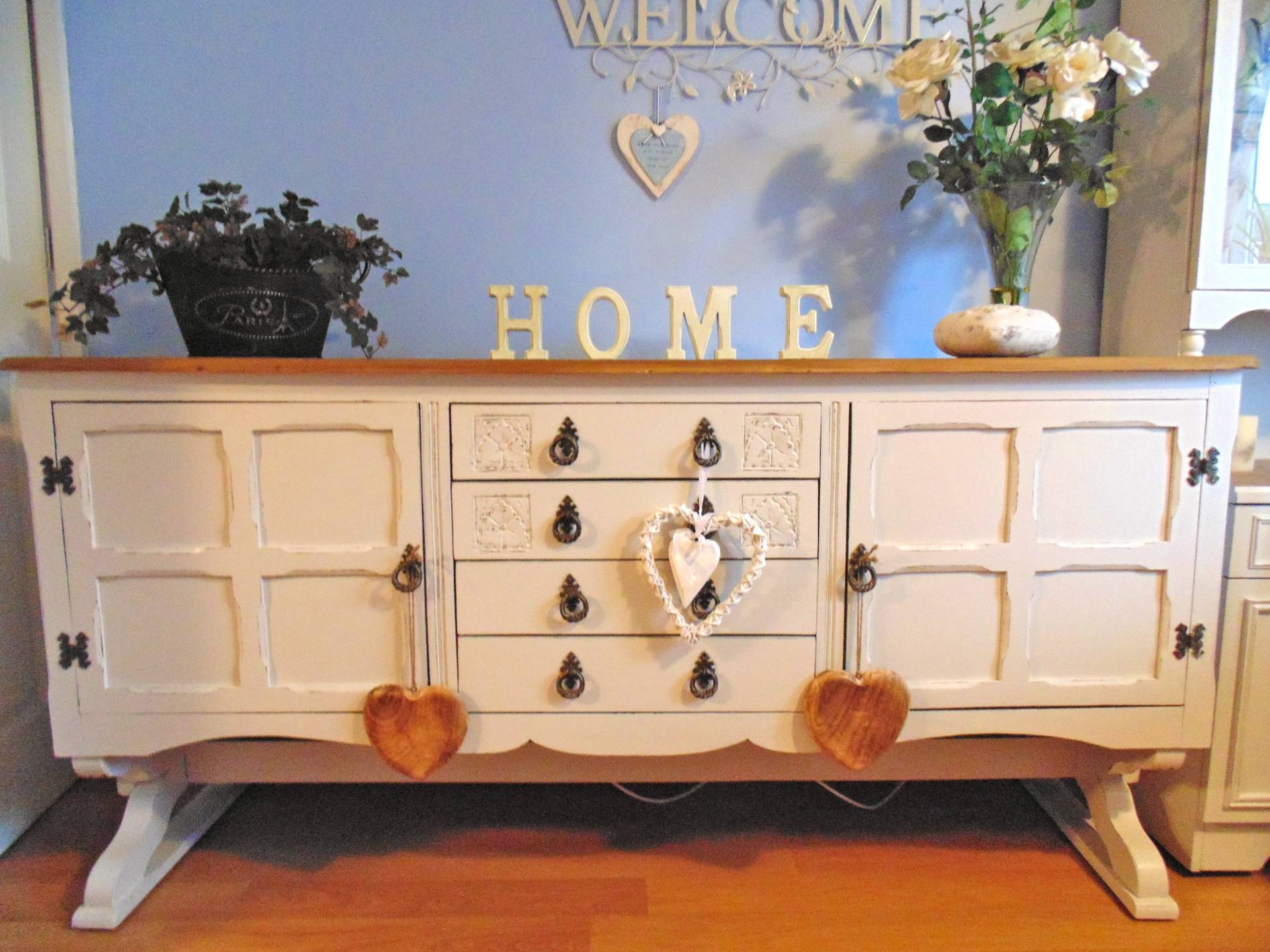 Cradle Dresser Shown As Sideboard Only.