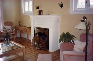 Manteau de foyer en bois lacqué