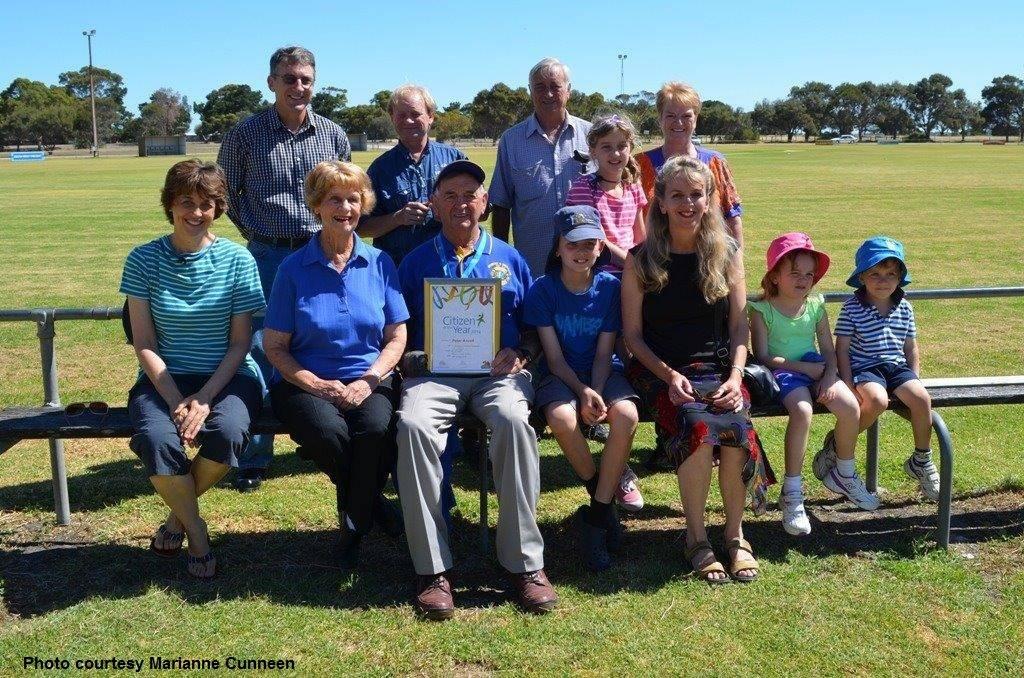 Peter & family at Meningie