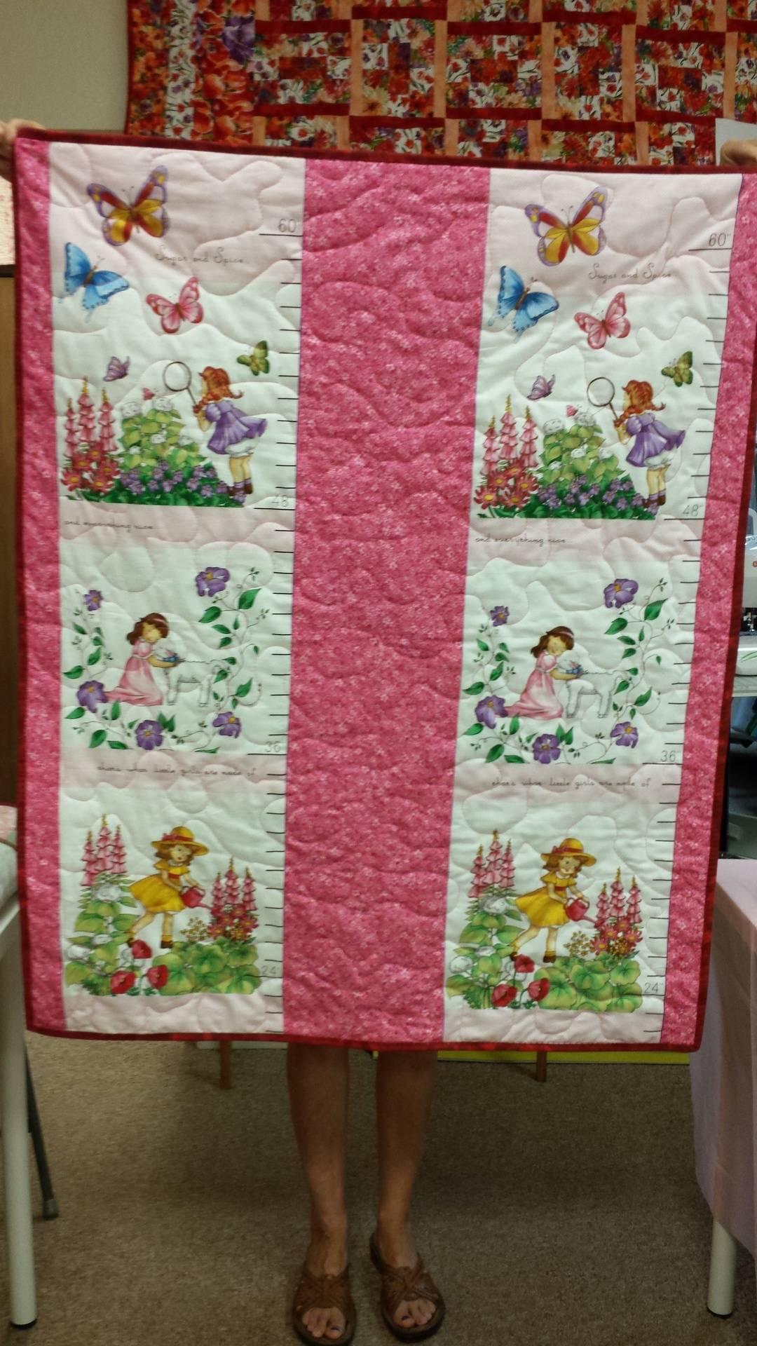 Reversible panel quilt