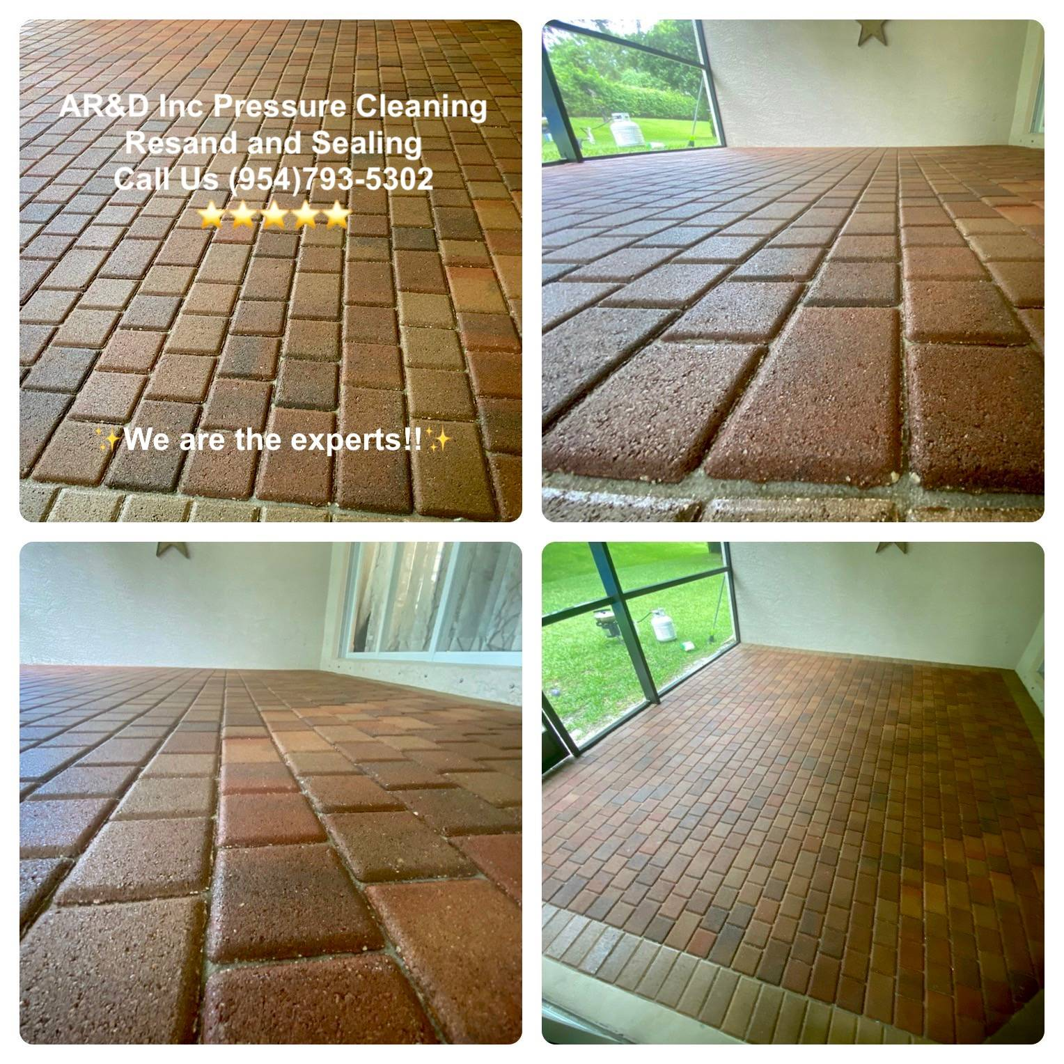 Paver Pressure Cleaning and Sealing